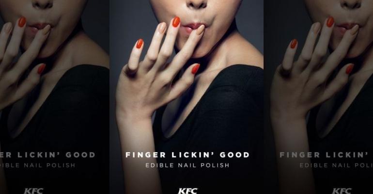 KFC wprowadziło...jadalny lakier do paznokci!