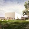 Nowy budynek Muzeum Sztuki Współczesnej - pawilon z Berlina okryty płótnem!