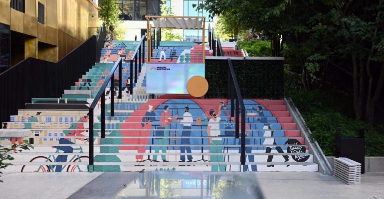 Najbardziej kolorowe schody w Warszawie