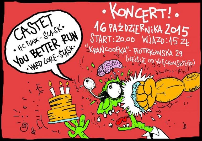 KONCERT!!! CASTET + YOU BETTER RUN na urodziny RADARA