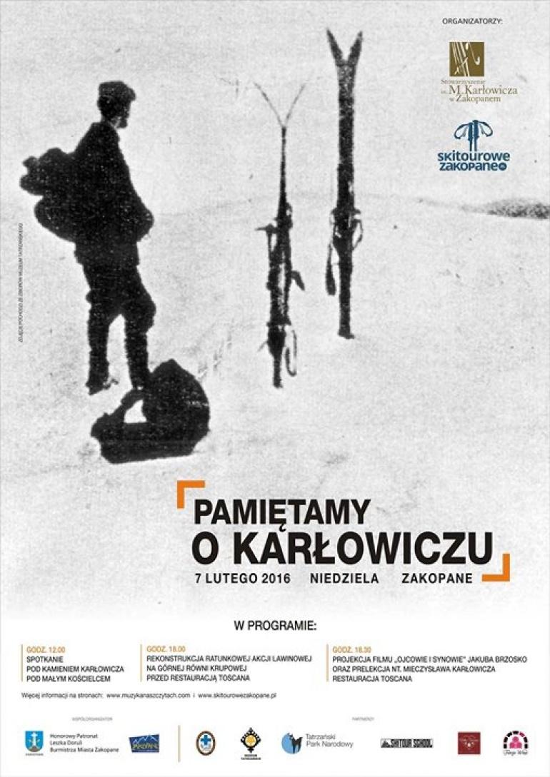 """Wydarzenie """"Pamiętajmy o Karłowiczu"""", czyli skitury, góry i historia"""