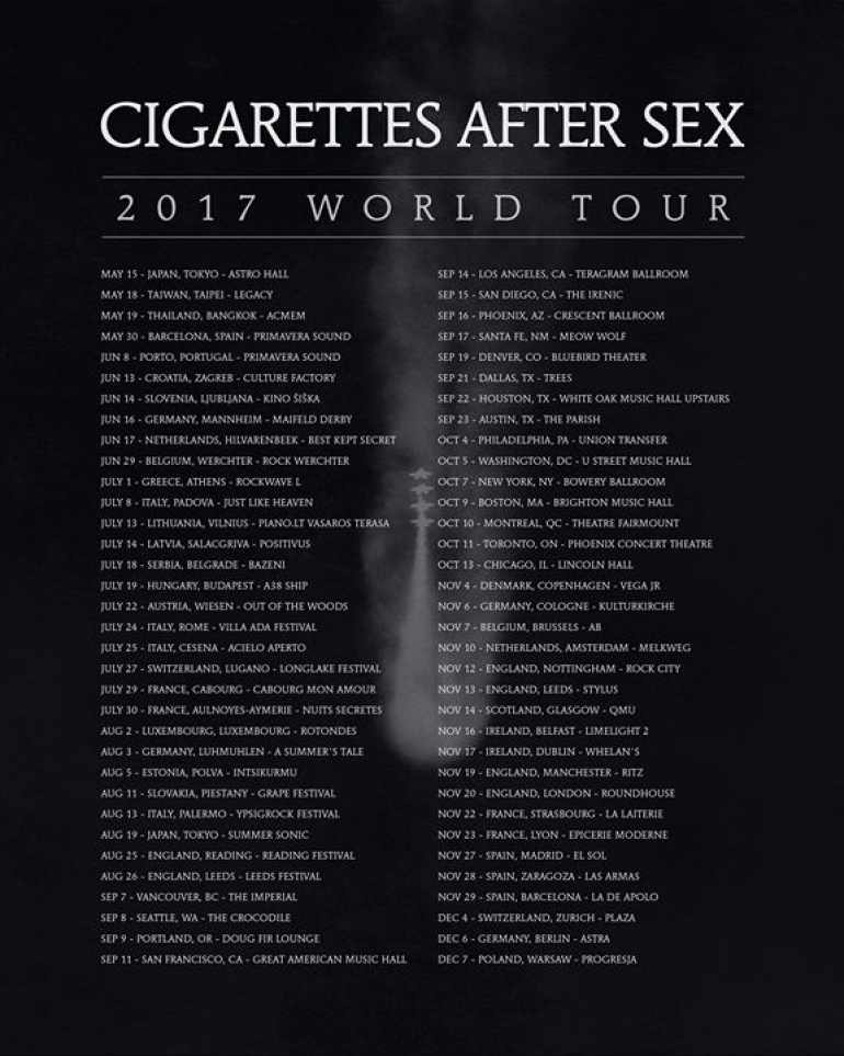 Cigarettes After Sex: 7.12.2017 Warszawa, Progresja