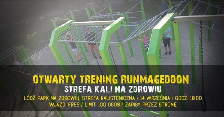 Otwarty Trening Runmageddon w Parku na Zdrowiu Łódź