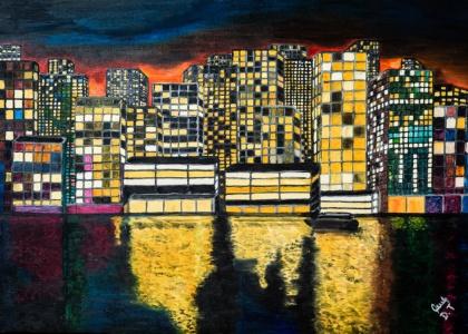 Danuta Terlikowska - wystawa malarstwa pt. Miasta nocą